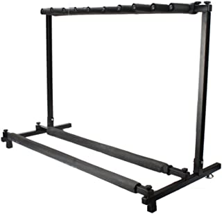 Kuyal Guitar Stand,Multi-Guitar Display Rack Folding Stand Band Stage Bass Acoustic Guitar, Black (9 Holder)
