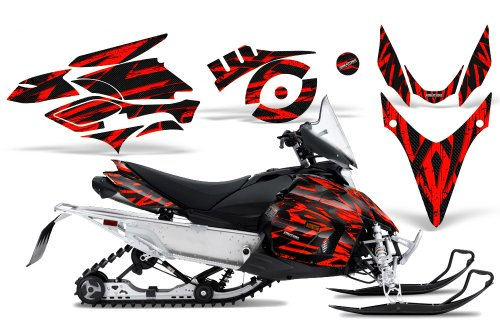 CreatorX Graphics Kit Decals Stickers for Yamaha Phazer Rtx Gt Mtx Snowmobile Sled Tribal Madness Red