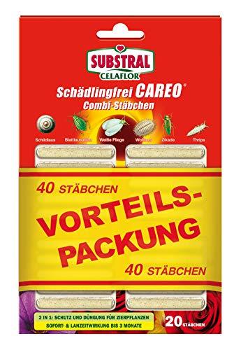 Substral Celaflor Schädlingsfrei Careo Combi-Stäbchen, mit Pflanzenschutz und Düngerfunktion, 40 St
