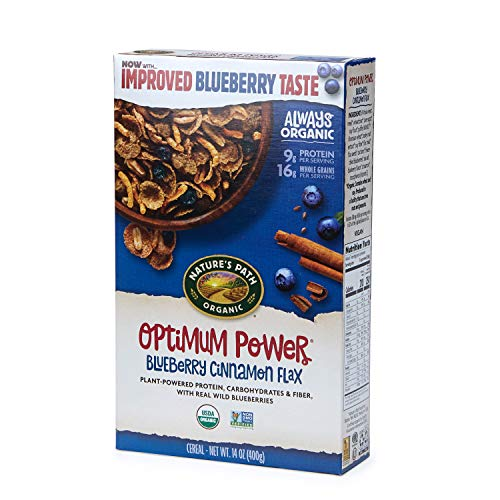 Nature's Path Optimum Power Blueberry Cinnamon Flax Cereal, Healthy, Organic, 14 Ounce Box (Pack of 6)