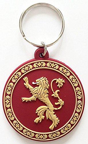 1art1 Juego De Tronos - Casa Lannister, Blasón, Oye Mi Rugido, Rubber Llavero (6 x 4cm)