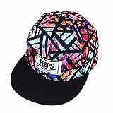 Gorra de béisbol unisex de tamaño ajustable con cierre trasero, para el sol, para conductor de camión, senderismo, Hip Hop de Yohope, Black colorful