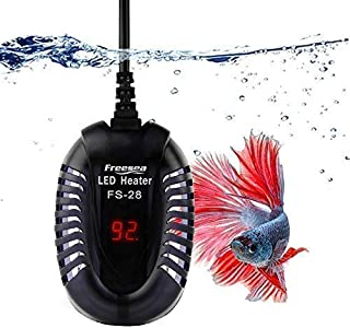 FREESEA 50 Watt Small Aquarium Betta Submersible Heater with LED Temperature Display