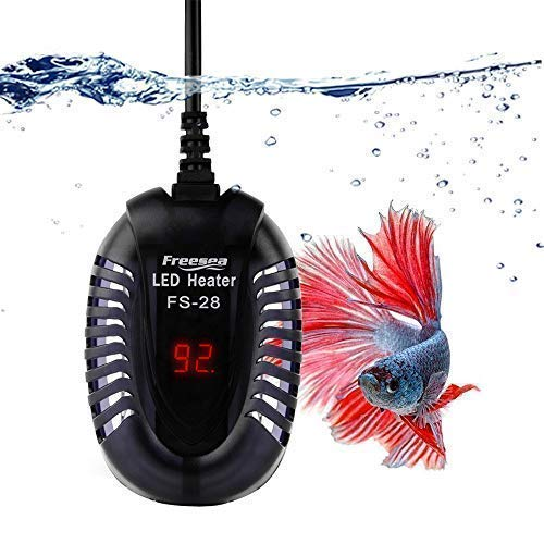 Visit the FREESEA 50 Watt Small Aquarium Betta Submersible Heater with LED Temperature Display on Amazon.