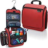 Hanging Travel Toiletry Bag for Men and Women – Large Cosmetics, Makeup and Toiletries Organizer Kit with 19...