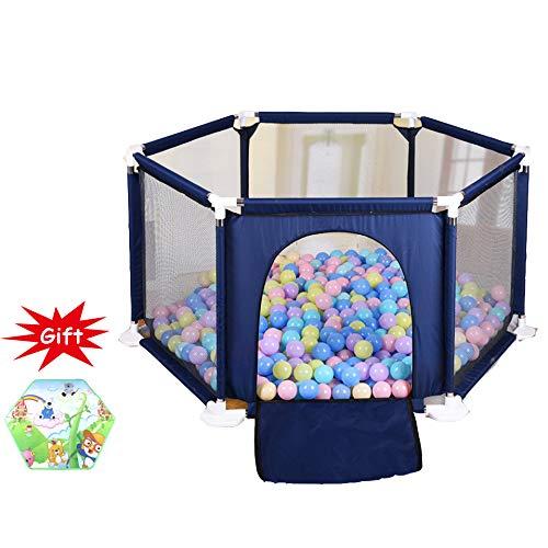 LYXCM Tragbarer Babypark, Fechten Im Innen- Und Außenbereich Für Kinder Sicherheitsbarriere Mit Zusammenklappbaren Schutzgittern Reisespielzentrum Mit Atmungsaktivem Netzmaterial 0~5 Jahre
