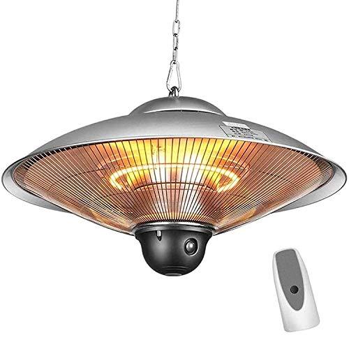 VIY Estufa Colgante de Techo Tipo Calefactor, Eléctrico Radiante Halógeno, para Interior...