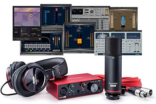 Focusrite Scarlett Focusrite Scarlett Solo Studio (3ª generación) USB interfaz de audio más Waves Musician 2 e iZotope Mobius filtro paquete de grabación