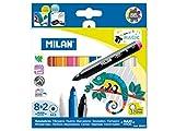 Milan 80023 - Caja de 8 Rotuladores de Colores y 2 Rotuladores Mágicos