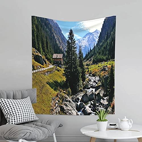 Tapiz para colgar en la pared del dormitorio, sala de estar, dormitorio, decoración de pared, tapiz para pícnic al aire libre, 152 x 152 cm