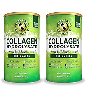 Great Lakes Gelatin, Collagen Hydrolysate, Kosher, 16 oz. 2 Pack from Great Lakes Gelatin Co.