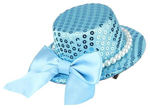 La Vogue Pince à Cheveux Clip Épingle Enfant Fille Nœud Paillette Perle Faux Mariage Bleu