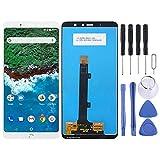 ASAMOAH Pieza de reemplazo del teléfono Celular Pantalla LCD y ensamblaje Completo del digitalizador for BQ Aquaris X2 / X2 Pro Accesorios telefonicos (Color : Blanco)