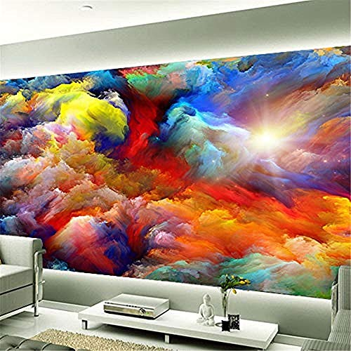 XHXI Custom Wall Mural 3D Color Clouds Abstract Art Living Room Background Photo Wallpaper Home Decor Papel De Parede 3D Wallpaper Paste Living Room The Wall for Bedroom Mural border-430cm×300cm