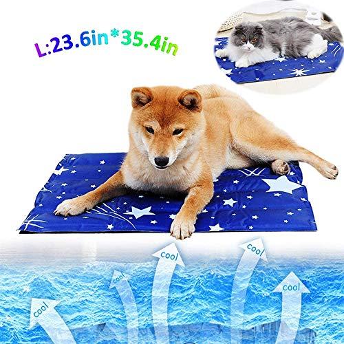 MKLI Sommer-Haustier-EIS-Gel kühl und Wasserdichten Frühling und Herbst Mat Boxed Hund Hund Katze Katze-Bett-Haustier-Matten, Ihr Haustier kann ganz bequem auf dem EIS Bett,L(60 * 90cm)