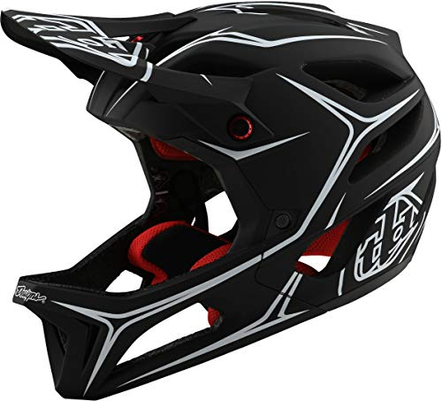 Troy Lee Designs Stage MIPS helm Pinstripe Black/Cyan 2020 Fietshelm
