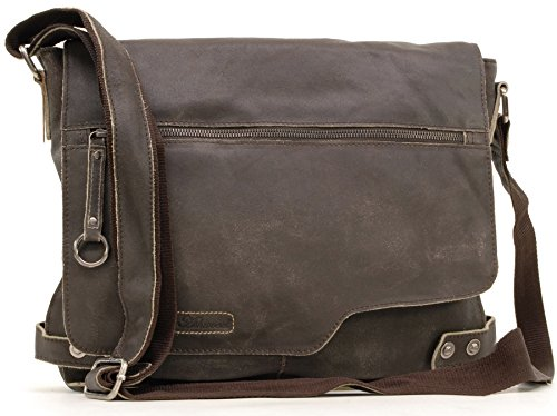 Borsa Messenger Ashwood in pelle - Camden - 8353 - Marrone