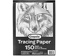 CRAYOLA TRACING PAPER: Stock up with 150 sheets of tracing paper designed for tracing pads, coloring projects, and crafts. LIGHT UP TRACING PAD: The perfect addition to the Crayola light up tracing pad, This bulk tracing paper set is a convenient ref...
