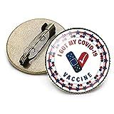 私は私のCovidを手に入れました-19ワクチンウイルスワクチンバッジブローチバッジCovidワクチン接種ピンボタン、2個のヴィンテージクリスタルCovid19ワクチン金属ブローチバッジ,F