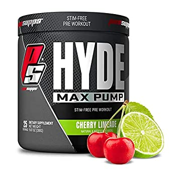 ProSupps Hyde Max Pump Pre Workout for Men and Women - Nitric Oxide Supplement for Energy Pump and Endurance - Stimulant Free Pre Workout to Promote Blood Flow  Cherry Limeade 25 Servings