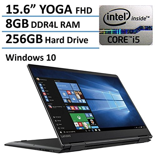 Lenovo Yoga 710-15 - 15.6' FHD Touch-Screen - 7th Gen Core i5-7200U - 8GB Ram - 256GB SSD - Black