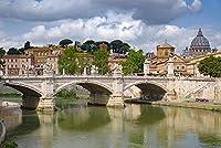 ローマイタリアテヴェレ川橋都市彫刻大人のパズルの子供1000ピース木製パズルゲームギフト家の装飾特別な旅行のお土産