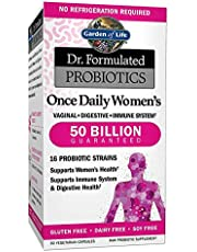 دكتور مكملات دكتور فيرميولاتيد بروبيوتيك غير المنكهة للنساء من غاردن اوف لايف، 30 كبسولة.