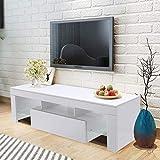 WISFORBEST Meuble TV LED Banc TV Bas pour Écrans Jusqu'à 60 Pouces Armoire TV avec...