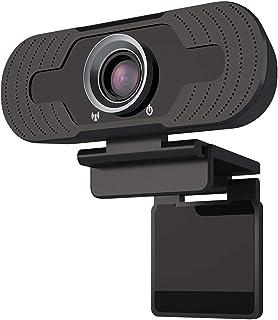 FAGORY Webcam Full 1080p - Cámara Web para PC Cámara portátil con micrófono, Plug & Play, Soporte de grabación y videollamadas de Pantalla panorámica para conferencias