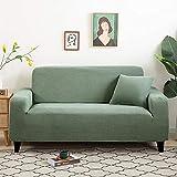 L.TSA Funda Protectora de sofá en Forma de L, de Punto Grueso para Fundas de Sala de Estar, Protector de sillón en Forma de L, 11_145-185cm, Fundas de sofá para Muebles para Mascotas, niños
