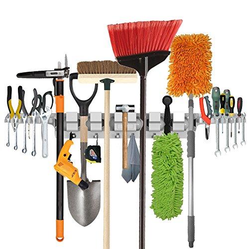 Sosten fregona tapiz pared funciones multiples Estante herramientas