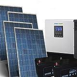 Kit Solar Casa Pro 1Kw 24V Sistema fotovoltaico independiente en la isla