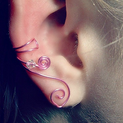 Pink Celtic Ear Cuff, No Piercing Single or Pair