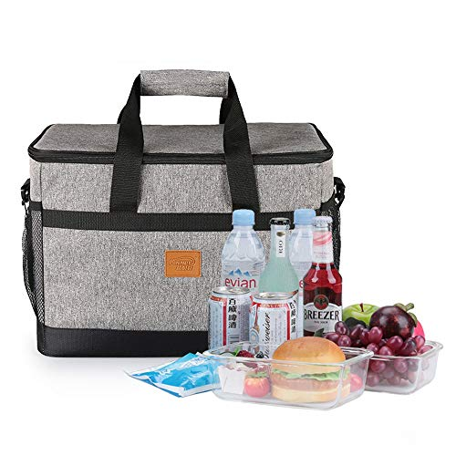 Chengzuoqing Picknick-Rucksack 33L Lunch Bag wasserdichte Picknick-Einkaufstasche Thermische Kühler Isolierte Auto Tragbare Tote Aufbewahrungsbox Kühltasche Für Büro Picknick Für Camping und Familie