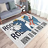 Rugs For Living Room Sale Cartoon Children'S Room Rock Dinosaur Pattern Hairless Carpet Black Gray Blue Rug Carpets For Room160X200cm