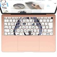 igsticker MacBook Air 13inch 2018 専用 キーボード用スキンシール キートップ ステッカー A1932 Apple マックブック エア ノートパソコン アクセサリー 保護 014833 ハスキー犬 犬 dog