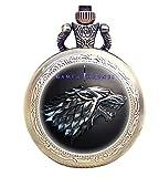 TAPORT® Reloj de bolsillo de cuarzo antiguo grabado bronce para...