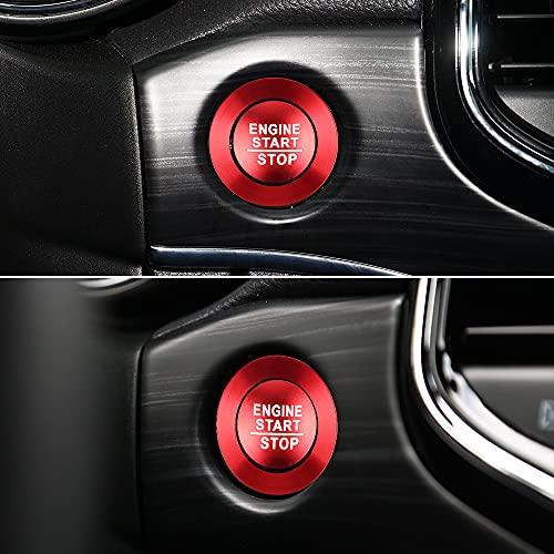PIFOOG 2PCS Decorative Accessories for Jeep Grand Cherokee Engine Cover, Start Button Cover Interior...