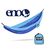 ENO Eagles Nest Outfitters - SingleNest Hammock, Portable Hammock for One, Powder Blue/Royal (FFP)