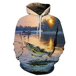 LH&BD Impression 3D Funny Animal Carpe Pêche Sportswear Unisexe Zipper/Sweat à Capuche/Sweat-Shirt/Veste,A,4XL
