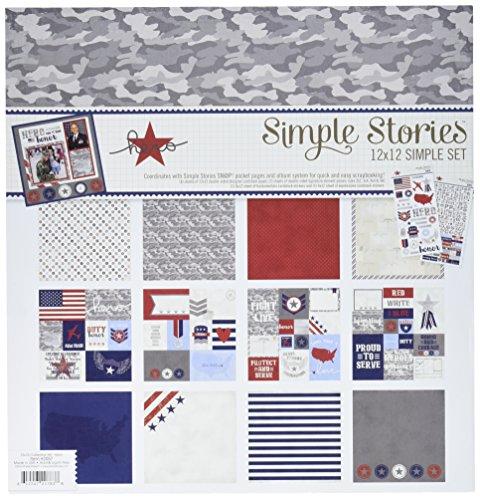 Simple Stories Simple Conjuntos Kit de Papel para Manualidades (30,4x 12-Inch-Hero