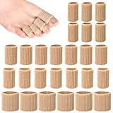 KLATIE 26 Pieces Toe Protectors, Toe Cushion Tubes Sleeves 3 Different Size Soft Gel Corn Pad Protectors for Cushions Corns,Blisters, Calluses, Toes and Fingers.