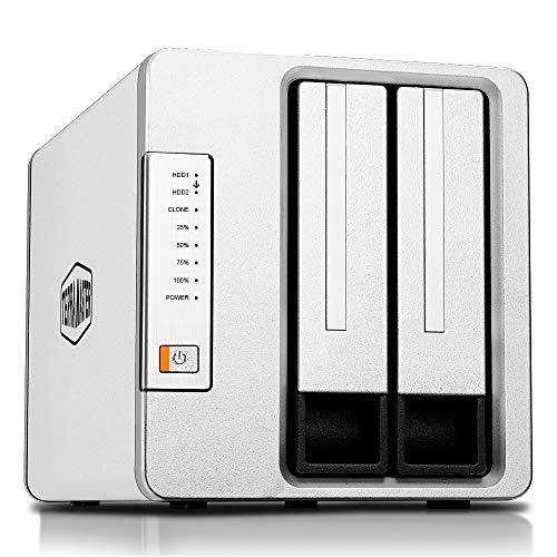 TerraMaster D2 Clone SSD/Festplatten-Duplikator, USB3.1 (5Gbps) Typ-C 2Bay SATA Externes Festplattengehäuse (Diskless)