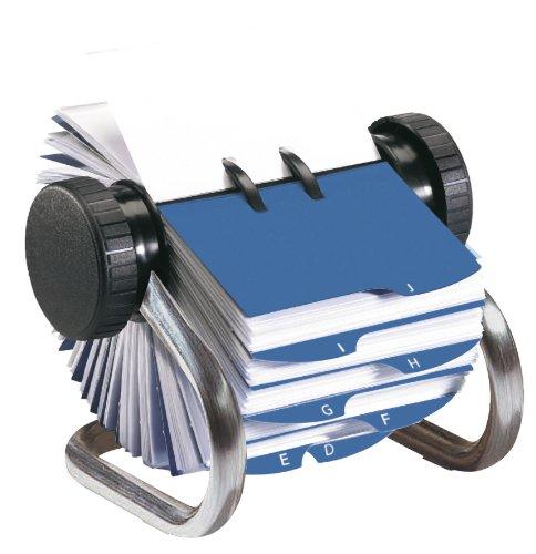 Rolodex - Tarjetero rotativo, cromado