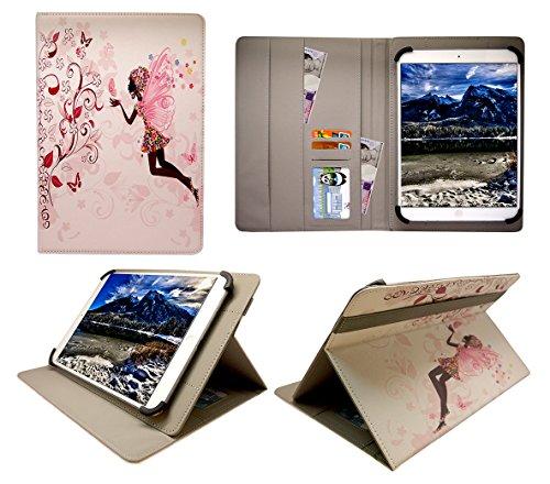 Sweet Tech Archos 101d Neon/Platinum 10.1 Zoll Tablet Feenhaftes Blumenmädchen Universal Wallet Schutzhülle Folio (10-11 Zoll)
