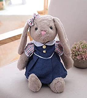 Un ncie Soft Animal Toys Cute Simulation Dress Rabbit Plush Toy Stuffed Animal Toy Baby Plush Toy Gift Long 40cm (Navy Blue)