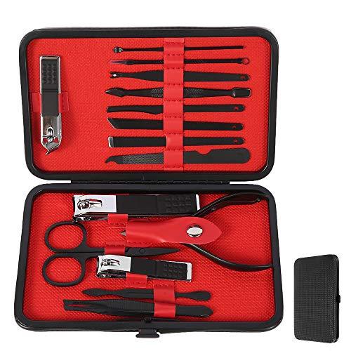 Kit Manucre Pedicure,15 en 1 Set de Coupe-ongles Professionnel en Acier inox,Soin des Ongles Outil de Manucure Pédicure pour Homme Femme