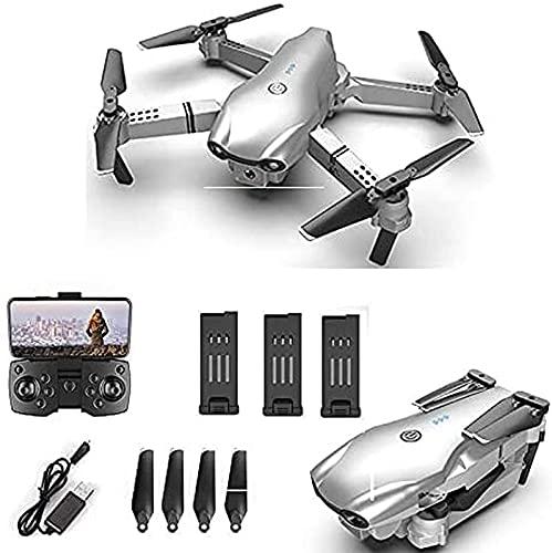 rzoizwko Drone, Plegable GPS FPV Drone con cámara 4K HD Video en Vivo para Principiantes RC Quadcopter con GPS Regreso a casa Sígueme Control de Gestos Circle Fly Auto 5G WiFi Transmisión 3 baterías
