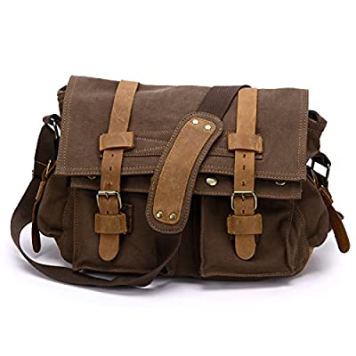 SurePromise One Stop Solution for Sourcing SAC BANDOULIERE MESSENGER BESACE EPAULE SACOCHE CANEVAS CUIR DOS HOMME FEMME ECOLE VOYAGE CARTABLE 2 COULEUR