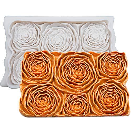 SAKOLLA - Molde para fondant, diseño de flores, silicona para azucarería, decoración de tartas, glaseado de gumpaste